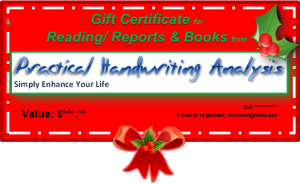 Practical Handwriting Analysis Gift Certificate -_Xmas
