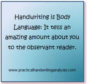Handwriting is Body Language