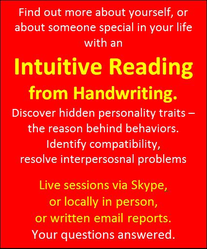 intuitive readings from handwriting